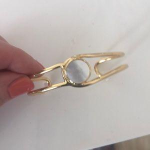 Ann Taylor gold MOP cuff bracelet new